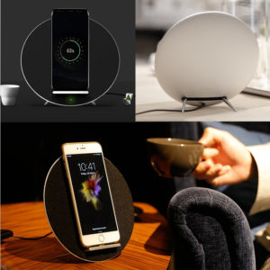 Funxim-w8-wireless-charger-bluetooth-W8-Black-galaxy-stand-6