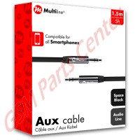multiline-aux-cable-black