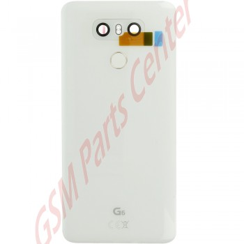 lg g6  h870  backcover acq89717203 incl camera lens and home button white