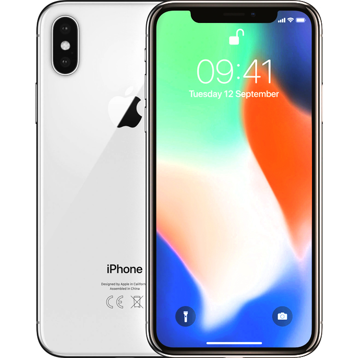 Apple iPhone X - Provider Pre-Owned - 64GB - Silver
