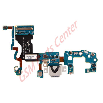 Samsung G960F Galaxy S9 Charge Connector Flex Cable With Microphone Module GH97-21684A