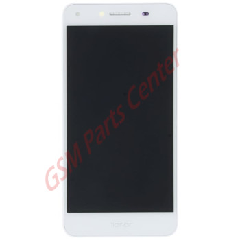 Huawei Y6 II Compact (LYO-L21) LCD Display + Touchscreen + Frame Incl. Battery + Parts 97070PMV White