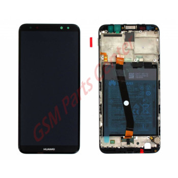 Huawei Mate 10 Lite LCD Display + Touchscreen + Frame Black Incl. Battery + Parts 02351QCY