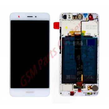 Huawei Nova LCD Display + Touchscreen + Frame Incl. Battery, Speaker + Vibration White 02350YUW