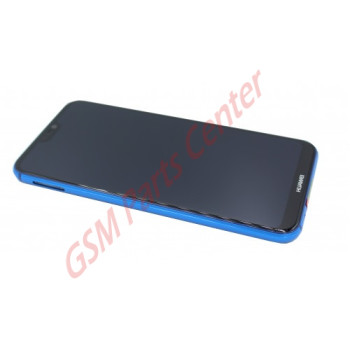 Huawei P20 Lite (ANE-LX1) LCD Display + Touchscreen + Frame Blue Incl. Battery + Parts 02351VUV