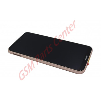 Huawei P20 Lite (ANE-LX1) LCD Display + Touchscreen + Frame Pink Incl. Battery + Parts 02351VUW