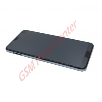 Huawei P20 Pro (CLT-L29C) LCD Display + Touchscreen + Frame Blue Incl. Battery + Parts 02351WTP