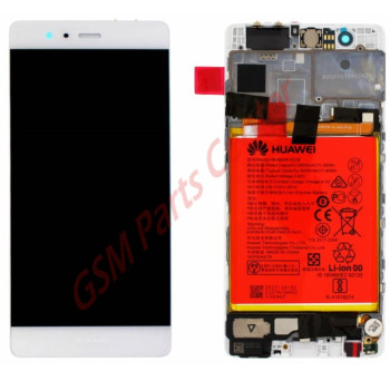 Huawei P9 LCD Display + Touchscreen + Frame White Incl. Battery + Parts 02350RRY 02350RKF