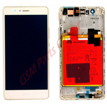Huawei P9 Lite LCD Display + Touchscreen + Frame Gold Incl. Battery + Parts 02350TMS; 02351LHF