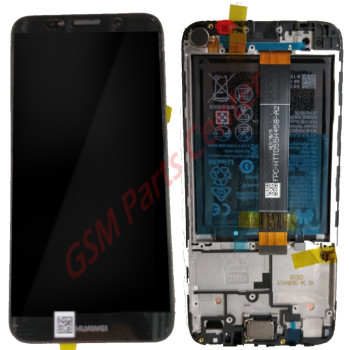 Huawei Y5 (2018)/Y5 Prime (2018) (DRA-LX2) LCD Display + Touchscreen + Frame Black Incl. Battery + Parts 02351XHU