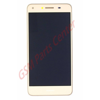 Huawei Y6 II Compact (LYO-L21) LCD Display + Touchscreen + Frame Incl. Parts 97070PEN Gold