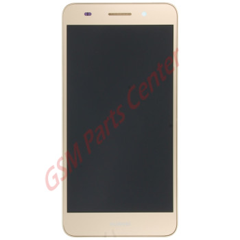 Huawei Y6 II 2016 (Honor 5A) LCD Display + Touchscreen + Frame 02350VUK Incl. Battery + Parts Gold