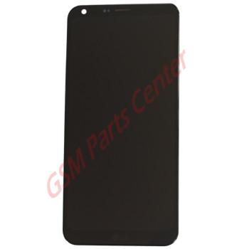 LG Q6 (LGM700N) LCD Display + Touchscreen + Frame ACQ90078701 - ACQ89809401 Black