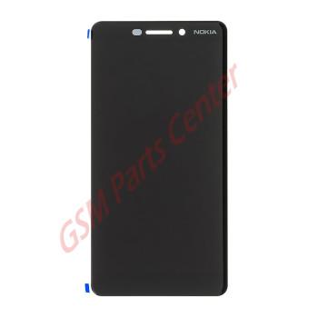 Nokia 6 (2018) (TA-1054)/6.1 (TA-1043) LCD Display + Touchscreen 20PL2BW0001 Black