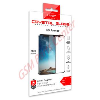 Livon Apple iPhone XR Tempered Glass 3D Armor Black
