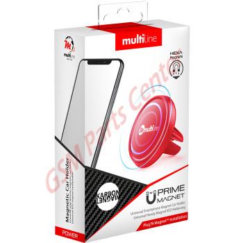 Multiline Prime Magnet Phone Holder - Karbon Red