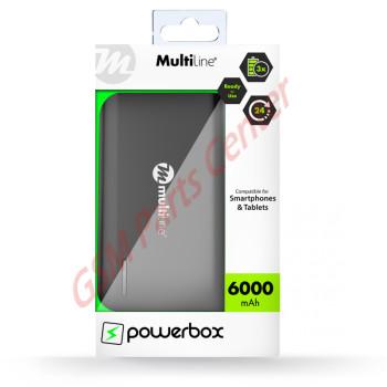 Multiline Powerbox Line - Powerbank 6000 mAh - Zwart