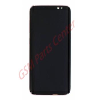 Samsung G950F Galaxy S8 LCD Display + Touchscreen + Frame GH97-20457E Pink