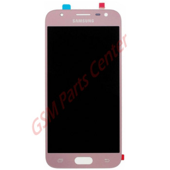 Samsung J330F Galaxy J3 2017 LCD Display + Touchscreen GH96-10991A Pink