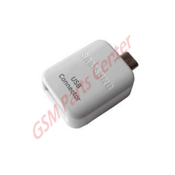 Samsung Micro USB to USB 2.0 Adapter OTG - GH96-09728A - White