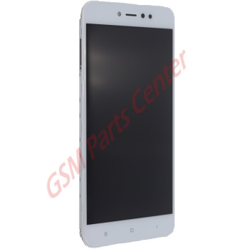 Xiaomi Redmi Note 5A LCD Display + Touchscreen + Frame  White
