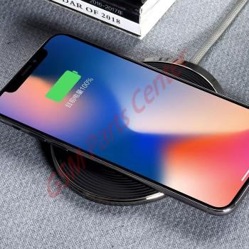 XO Wireless QI Charging Base - WX008 - Chrome Black