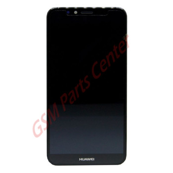 Huawei Y6 (2018) (ATU-L11) LCD Display + Touchscreen + Frame Incl. Battery + Parts Black 02351WLJ