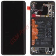 Huawei Mate 20 Pro (LYA-L29) LCD Display + Touchscreen + Frame Incl. Battery and Parts 02352FRL Black