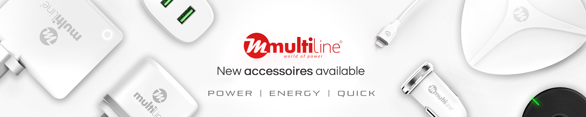 New accessoires for Multiline Chargers and Adapters available at GSM Parts Center