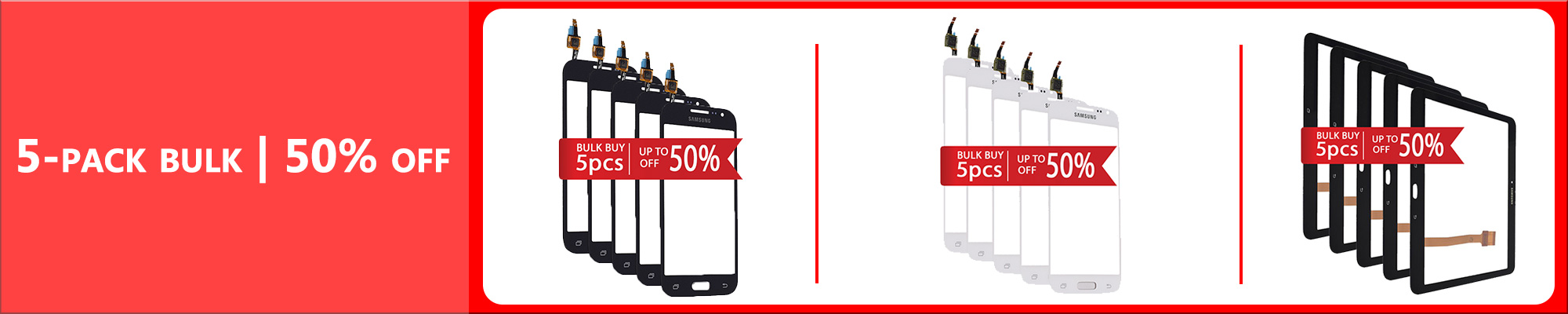 Samsung Touchscreens Discounted Bulk Prices. Buy 5 pcs and get up to 50% discount! - GSM Parts Center