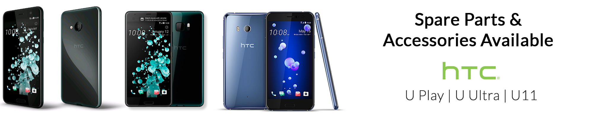 New Spare parts and accessoires available for the HTC U Play, U Ultra and U11