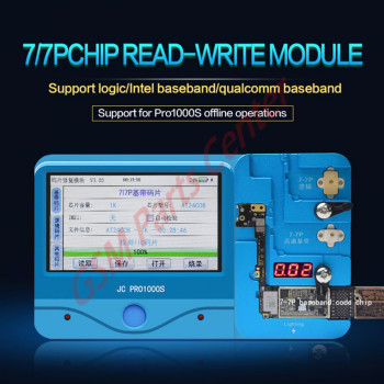 JC Module Baseband (Intel & Qualcomm) & Logic EEPROM IC Read/Write  Programmer For iPhone 7/7P