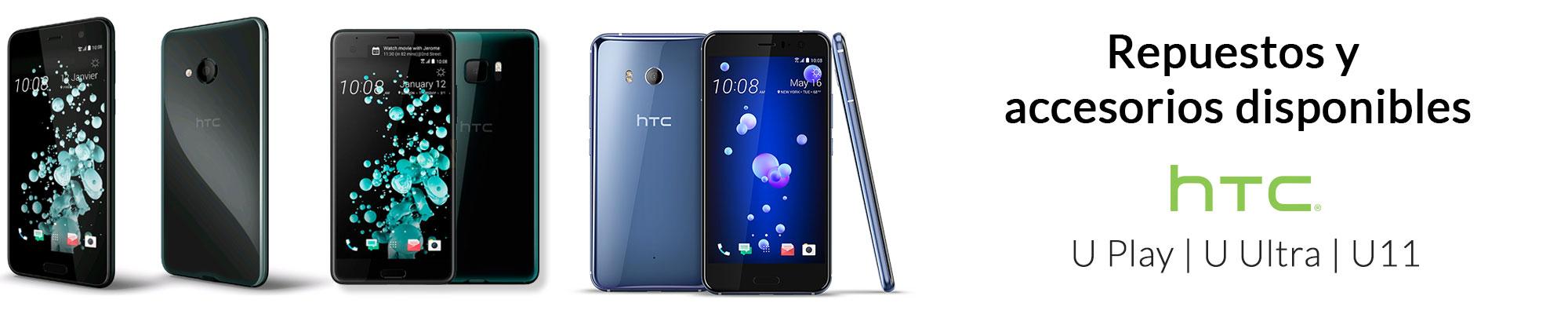 Nuevo Repuestos y accessorios para HTC U Play, U Ultra y U11 disponibles