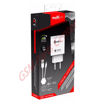 Multiline Xtreme Home Charger - 3.0A / 18W - incl. Type-C USB Cable