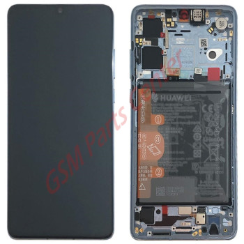 Huawei P30 (ELE-L29) LCD Display + Touchscreen + Frame Incl. Battery + Parts 02352NLP Crystal
