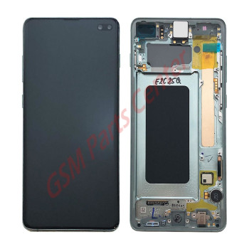 Samsung G975F Galaxy S10 Plus LCD Display + Touchscreen + Frame GH82-18849E;GH82-18834E Green