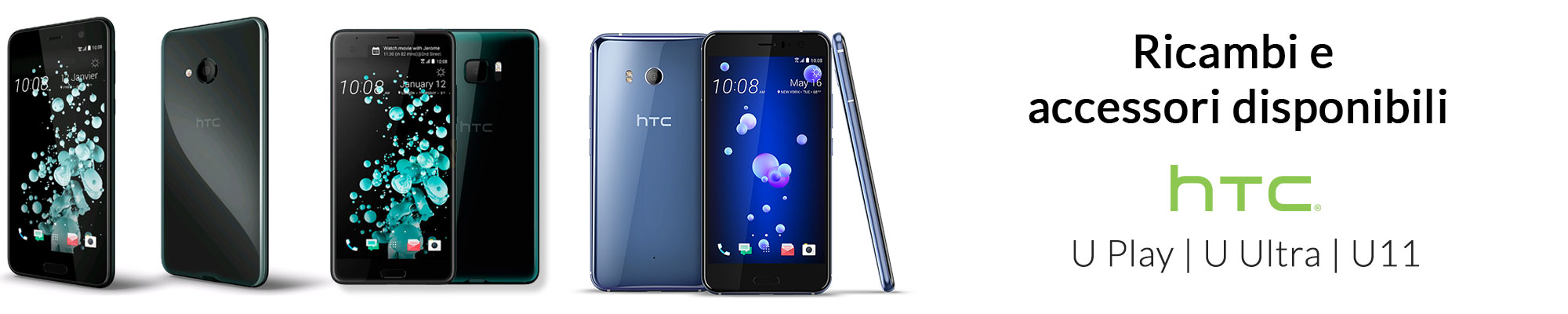 Nuovo Ricambi e accessori per HTC U Play, U Ultra e U11 disponibili