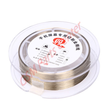 Refurbishing  Cutting Wire Gold Molybdenum - 0.06mm - 1000mtr