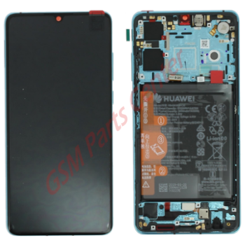 Huawei P30 (ELE-L29) LCD Display + Touchscreen + Frame Incl. Battery + Parts 02352NLN Blue