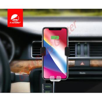 i-Smile Wireless Car Charger & Holder - 1.8A - Black