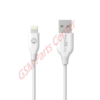 Multiline PowerLine Lightning USB Cable - 1.2M - White