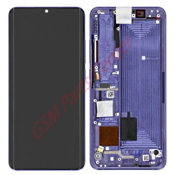 Xiaomi Mi Note 10 Lite LCD Display + Touchscreen + Frame 5600020F4L00 Purple