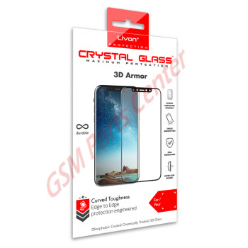 Livon Apple iPhone XS Max/iPhone 11 Pro Max Tempered Glass 3D Armor Black