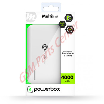 Multiline Powerbox Line - Powerbank 4000 mAh MLB-210 White