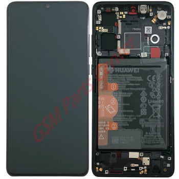 Huawei P30 (ELE-L29) LCD Display + Touchscreen + Frame Incl. Battery + Parts 02352NLL Black