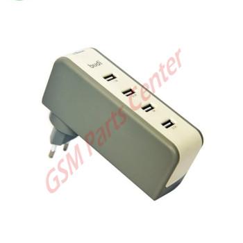 Budi 6 USB Home Charger With Swivel - EU Plug