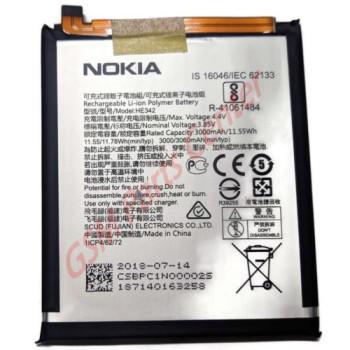 Nokia 6.1 Plus (Nokia X6) (TA-1103) Battery BPC1N00002S HE342 - 3000 mAh