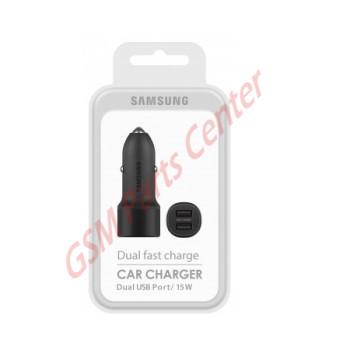 Samsung Dual Fast Charge Car Charger (15W) EP-L1100NBEGWW - Black