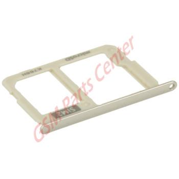 Samsung J330F Galaxy J3 2017 Simcard holder + Memorycard Holder GH61-12704C & GH61-12796C Gold