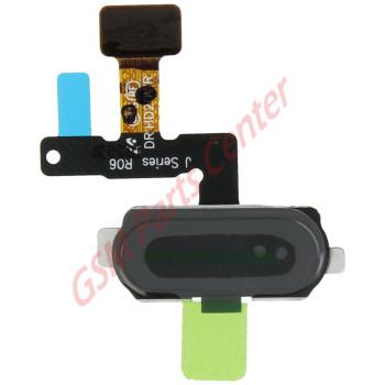 Samsung J530F Galaxy J5 2017 Home button Flex Cable + Button + Fingerprint sensor GH96-10801B Black